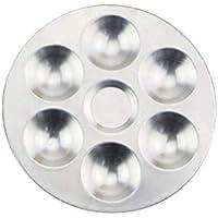 Unitedheart Mezcla de Paleta, Compartimentos Separados de Aluminio Mezcla de Acuarela Mezclador de Colores Mezclador de cerámica Herramientas para Colorear Arcilla para Arcilla polimérica