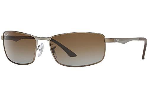 Ray Ban Unisex Sonnenbrille RB3498, Mehrfarbig (Gestell: Gunmetal-matt, Gläser: grau verlauf-braun polarisiert 029/T5), X-Large (Herstellergröße: 64)