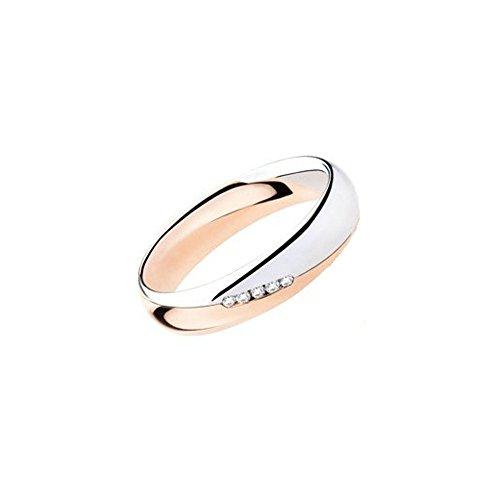 Fede Matrimoniale Polello Oro E Diamanti Kt 0.05