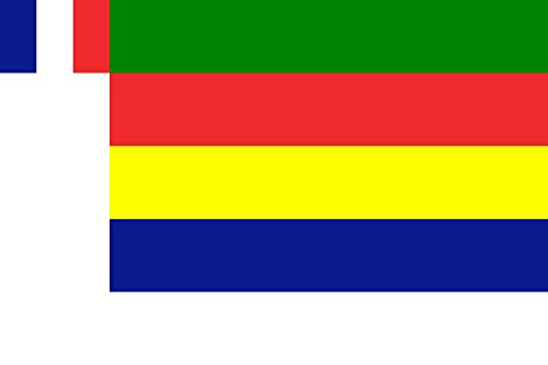 Ad-flag (Flagge Jabal ad-Druze state | State Flag of Jabal ad-Druze between 1924 - 1936 | Querformat Fahne | 0.06m² | 20x30cm für Diplomat-Flags Autofahnen)