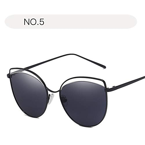 Yiph-Sunglass Sonnenbrillen Mode Damensonnenbrille Classic Aviator Mirror Face UV400 Schutz Metallrahmen Sonnenbrille (Farbe : NO.5, Größe : Free Size)