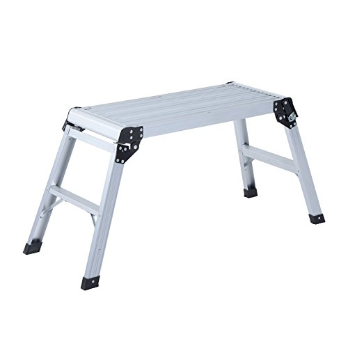 Banco Plegable Plataforma de Trabajo Escalera de Aluminio 150Kg Escalon Taburete
