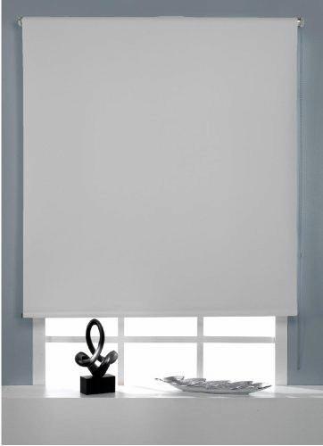 COTTON ART - ESTOR ENROLLABLE OPACO 140 ancho X 175 cm largo COLOR BLANCO Fijación a pared o a techo.