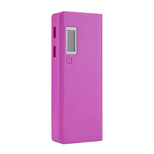 ell, DIY Power Bank Fächer, Dual USB Ausgang, 5 x 18650 Batterieschlitz, Powerbank Case mit Taschenlampe ()