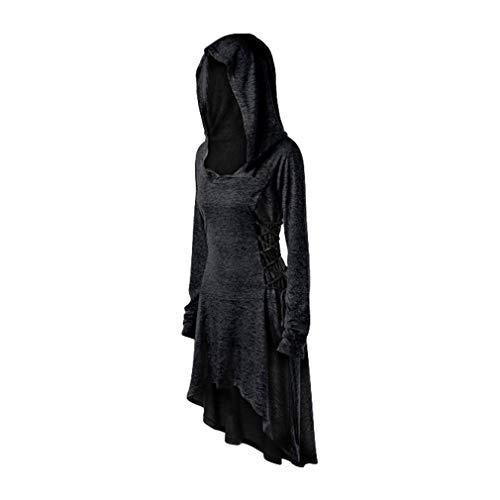 Vestido para Mujer Sudadera con Capucha con Cordones Gótico...