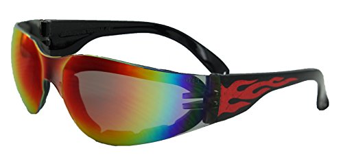 Global Vision Eyewear Rider Flame Series Sunglasses with G-Tech Red Safety Lenses by Global Vision Eyewear