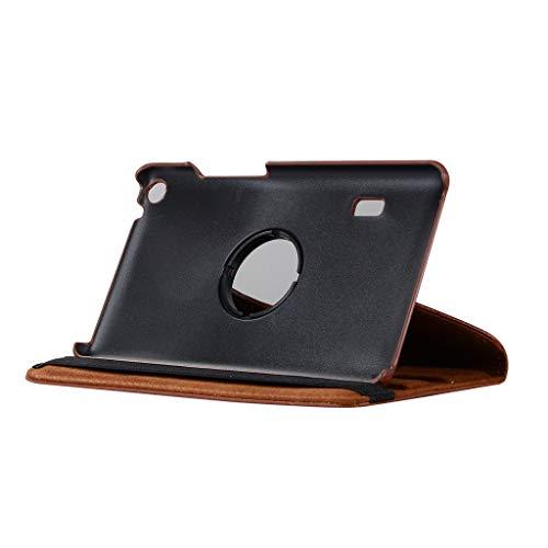 Schutzhülle für Huawei Mediapad T3 17,8 cm (7 Zoll), Kybers 360 Grad drehbar, mit Standfunktion, PU-Leder, Smart Cover für Huawei Mediapad T3 7.0 Zoll, braun T3 Stylus