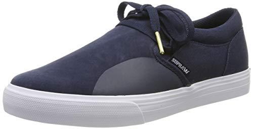 Supra Cuba, Zapatillas de Skateboard Unisex Adulto, Azul Navy-White-M 402, 36 EU