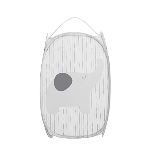 ZHONGLI Collapsible Laundry Basket - for Housekeeping Square Clothes Storage Baskets Dirty Clothes Foldable Clothes Container Storage Bag -