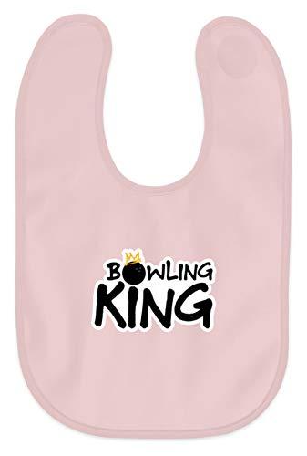 Bowling King King - Baby Lätzchen -Einheitsgröße-Puder Rosa