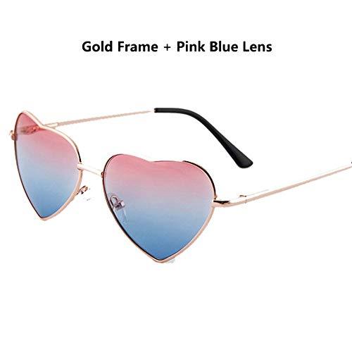 Sonnenbrille Jungen Mädchen Metallrahmen Multicolor Kinder Sonnenbrille Designer Beschichtung Fashion Girls Kinder Herz Geformte Brille Golden Blue Pink