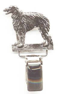 Borzoi Dog Show Ring Clip/Number Holder