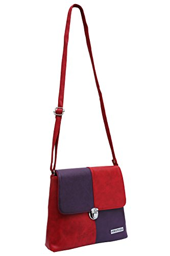 fantosy women red and purple zoomy slingbag fnsb-158