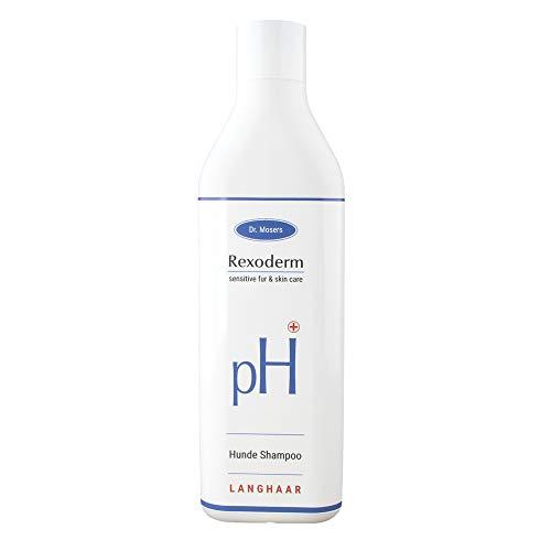Dr. Mosers REXODERM Langhaar-Shampoo | Geschmeidiges und glänzendes Fell | leichte Kämmbarkeit | Mild und sensitiv | Bio-Hundeshampoo ohne Silikone (300 ml)