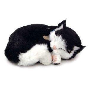 Perfect Petzzz lebensechte schlafende Katze Black & White