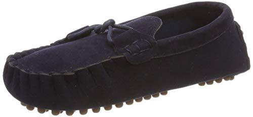 KVbaby Slip-on Wildleder Loafers Mokassin für Jungen und Mädchen Kinder Mokassin Comfort Oxford Freizeitschuhe Halbschuhe 28 EU = Etikett 30 (Herren Blau Kleid Schuhe Größe 14)