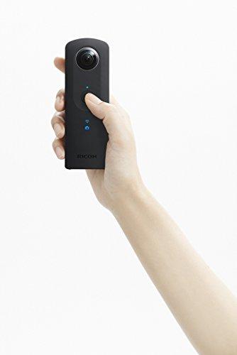 Ricoh THETA S Vollsphärenkamera (Full-HD-Video, 8GB, lichtstarkes Objektiv (F 2,0)) schwarz -