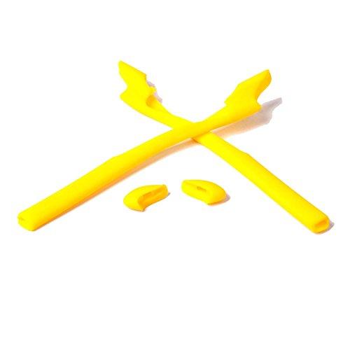 Walleva Earsocks und Nosepads für Oakley Half Jacket 2.0 XL/Half Jacket 2.0 Sonnenbrille - Mehrere Optionen (Gelb)