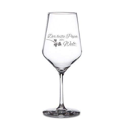AMAVEL - Weißweinglas – Weinglas mit Gravur – Der beste Papa der Welt – Standard – Motiv 3...