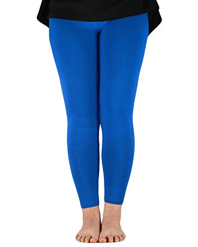Azue Damen Leggings Gr. xxxxxxXL, königsblau (Flag Thermal-shirt)