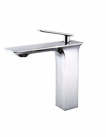 Qmpzg-Alle Kupfer Waschbecken mit warmen und Cold-Basin Mixer Semi-Flush Waschbecken