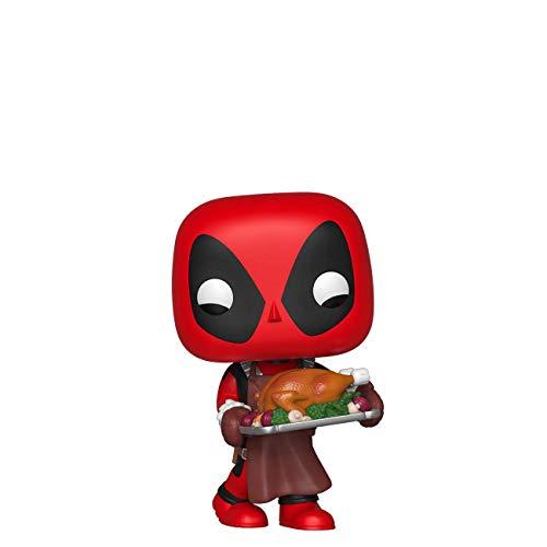 Funko 43337 POP Bobble Vinyl Marvel: Holiday-Deadpool Sammelbares Spielzeug, Mehrfarben