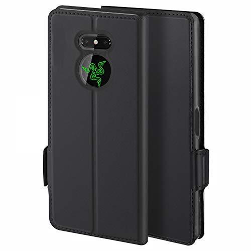HoneyCase für Handyhülle Razer Phone 2 Hülle Premium Leder Flip Schutzhülle für Razer Phone 2 Tasche, Schwarz