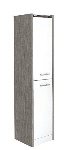 ank 700999 Trient, 38 x 35 x 157,5 cm, weiß glanz / esche grau Dekor ()