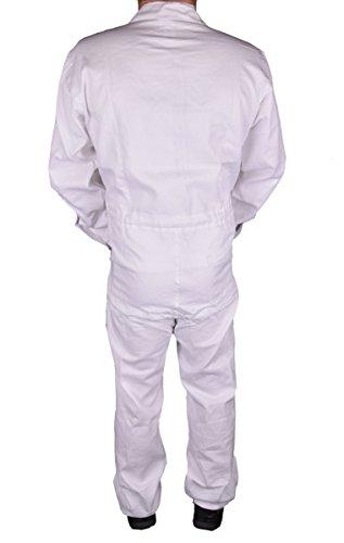 Stabiler Arbeitsoverall Arbeitskleidung Overall in Blau (50, Weiß) - 3