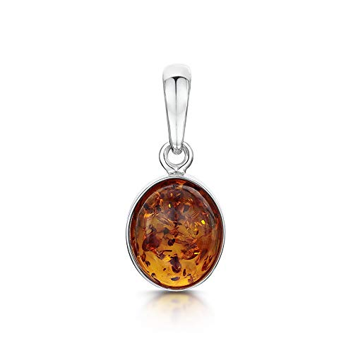 Amberta  -  925 Sterling-Silber  Sterling-Silber 925 Ovalschliff   Orange-gelb Ambre