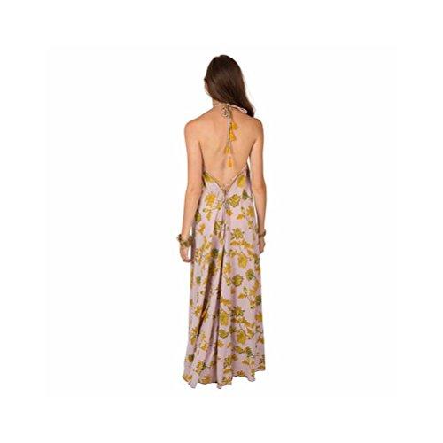 Zen*Ethic - Robe Dos Nu Longue Lea - Popeline de coton Rose