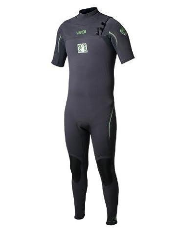 Body Glove Mens 2/2mm Vapor Short Sleeve Slant Zip Fullsuit Wetsuit, Black, Large/Tall by Body Glove Wetsuit Co.
