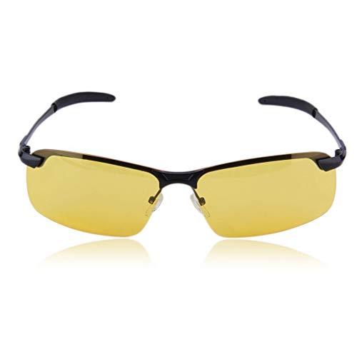 GreatWall Unisex High-End-Nachtsicht-Polarisationsbrille Driving Glasses gelb & schwarz