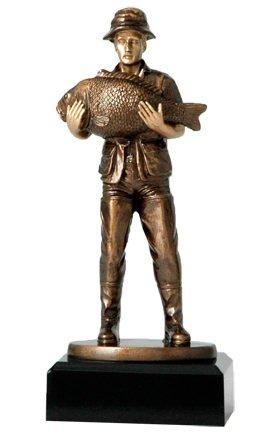 Preisvergleich Produktbild Figur Angler stehend mit Rute H=20, 5cm inkl. Wunschgravur