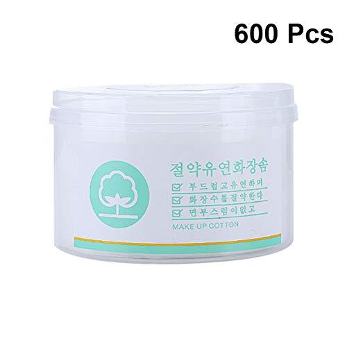Frcolor 600 pcs Tampons de coton absorbant Maquillage Coton Remover Pads Coton doux visage rond pour le maquillage et vernis à ongles