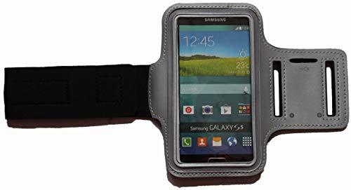 Sport Armband Schweißfest Schutztasche für Apple iPod Touch 4G Fitness Handyhülle Armtasche mit Kopfhöreranschluss, Laufen, Blank S Grau Ipod 4g Armband