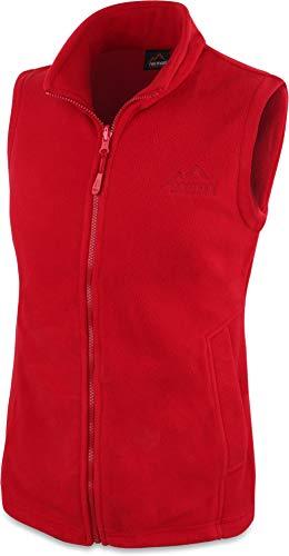 normani 280g Fleeceweste für Damen - Winddicht, leicht, warm, elegant Farbe Rot Größe L
