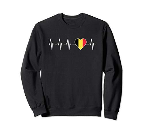 Belgische Heartbeat I Love Belgium Flagge Land Geschenk Sweatshirt