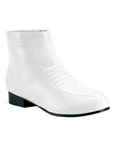 Retro-Disco-Stiefeletten Pimp-50 - matt Weiß Gr. 42 - (Fancy Pimp Dress)