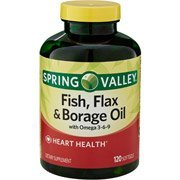 Spring Valley Spring Valley Fish Flax & Borage Oil Dietary Supplement Softgels 120 Count (Pack of 2) by Spring Valley