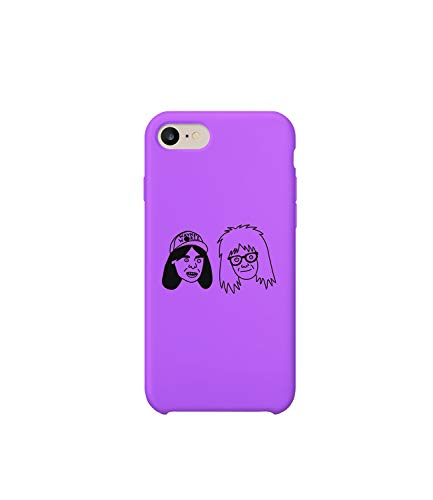 GlamourLab Waynes World Wayn Garth Characters Faces_R6304 Protective Case Cover Hard Plastic Compatible with for iPhone 7 Funny Gift Christmas Birthday Novelty