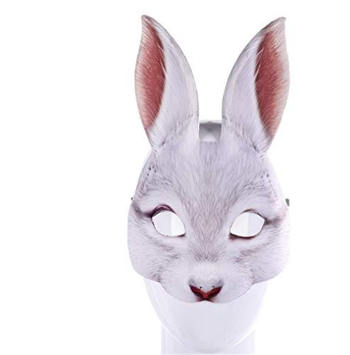 nice shop now Latex-Maske für Cosplay, Kaninchen, Halloween, Kostüm, Party