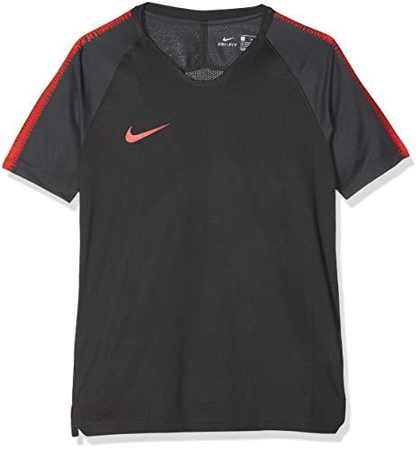 low priced 9e035 489db Nike Breathe Squad T- T-Shirt Garçon, Anthracite Light Crimson, L
