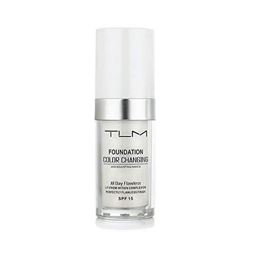 TLM Flawless Farbwechsel Warm Skin Tone Foundation Makeup Basis Nude Face Feuchtigkeitsspendende Flüssigkeit Abdeckung Concealer für Frauen