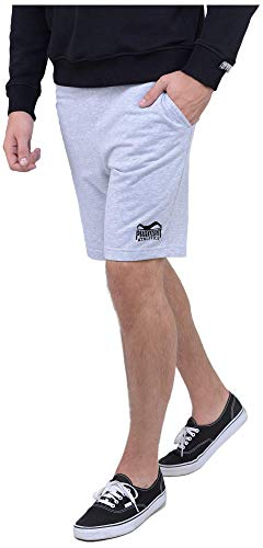 Phantom Athletics Herren Kurze Shorts Team Fitness Jogging-Hose Sport Hosen mit Taschen Grau Gr. M