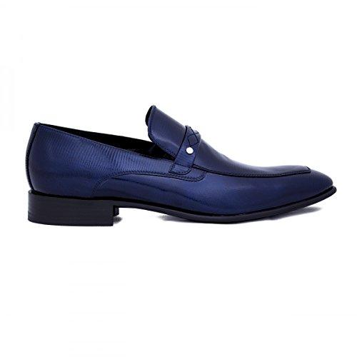 Première Maison - Scarpe classiche da uomo in pelle, Colore: Blu, Taglia: 42