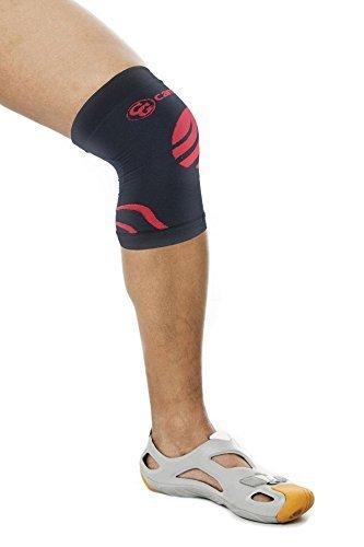 Camari Gear Sports Kniebandage (Single Sleeve) Knieschoner für Laufen, Rennen, Radfahren, Joggen, Basketball, Gewichtheben, Erholung von Gelenkschmerzen, Arthritis und Erholung von Verletzungen - Premium Knie Kompressionsbandage für Männer und Frauen - Ideal für Verstauchungen oder Spannungen.