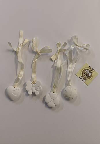 Gessetti solidali con nastro 4 varianti assortite coccinella farfalla quadrifoglio cuore cellerini onlus. set da 4 pezzi