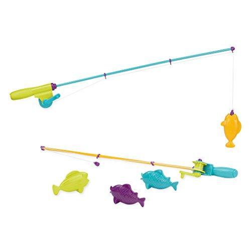 Battat - Magnetisches Angelspiel - Angel Spielzeug für Draußen und Badewanne mit 2 magnetischen Angeln und 4 Fischen für Kinder ab 3 Jahren (6 Teile)