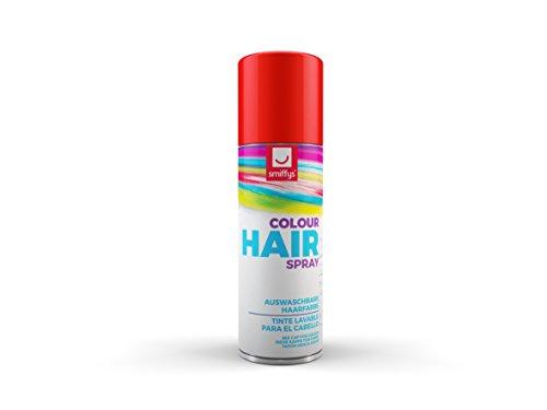 Smiffy's-Spray de Color para Pelo, Rojo, 125ml, r 052R